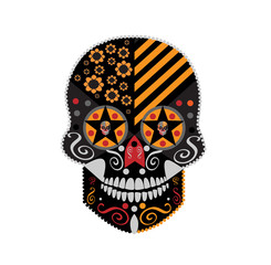 Happy Halloween skull, Devil, Day of the dead icon