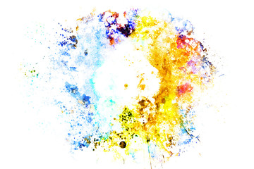 Abstract Colorful painting texture background, Colorful brush background.
