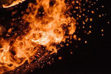 Embers from a fire