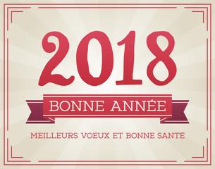 Carte de Vœux - Bonne Année 2018