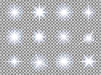 stars transparent light set Wall mural