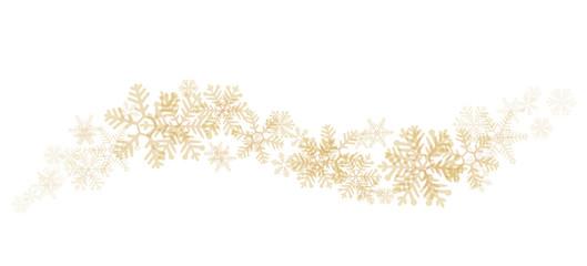 Schwung goldene Schneeflocken Hintergrund Element