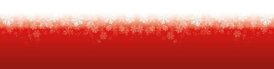Wall Mural - Roter Hintergrund Schneeflocken