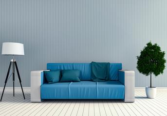 3D rendering of interior modern living room