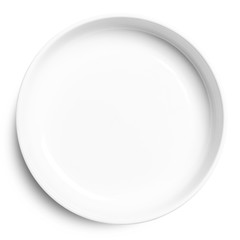 plate isolated on white background.
