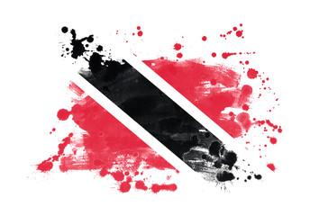 Trinidad flag grunge painted background