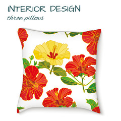 design cushions home interior, seamless vector abstract pattern