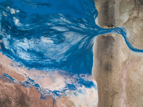 Abstract stream on geothermal area