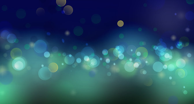 digitally drawn bokeh background