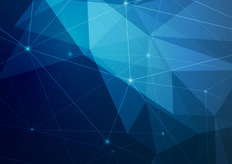 Crystal structure abstract modern polygonal dark blue background