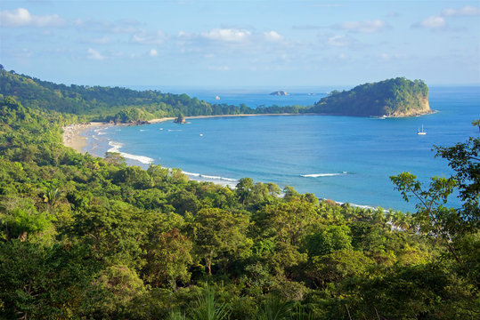 The bay and National Park of Manuel Antonio, Costa Rica