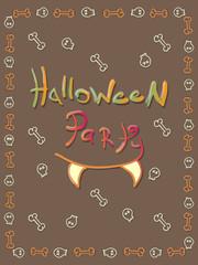 Halloween party invitation vector illustration