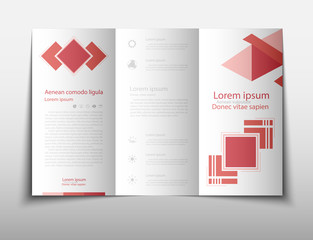 Leaflet cover presentation abstract geometric background, layout in A4 size fold set technology annual report brochure flyer design template vector