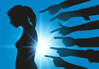 harcèlement - moral - montrer du doigt - fille - réseau - réseaux sociaux - jeune - sexuel