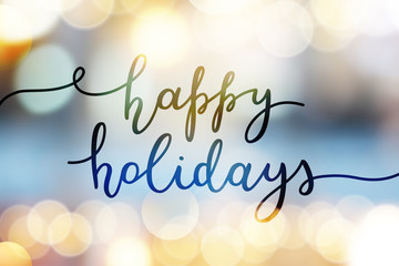 happy holidays lettering Fotomurales