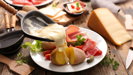 raclette cheese melted