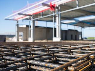 Betonstahlmatten - Lagermatten - Baustelle - Hochbau