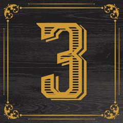 handcrafted vintage number design