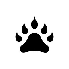 footprint animal icon, illustration, vector sign on isolated background