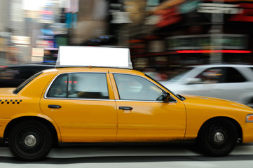 Zelfklevend Fotobehang New York TAXI Taxi Top Advertising