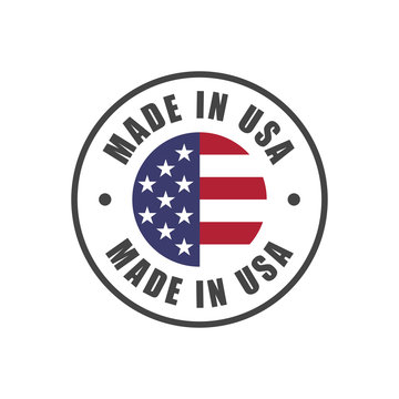 """""""Made in USA"""" badge with USA flag"""