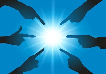 montrer du doigt - accuser - présentation - choix -choisir - main - montrer - pointer