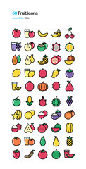 Fruits Color Illustration