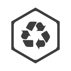 ikona sześciobok z zaokrąglonymi wewnątrz krawędziami - fototapety na wymiar