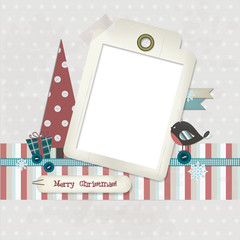 Scrapbooking Christmas card - Place your photo and your text
