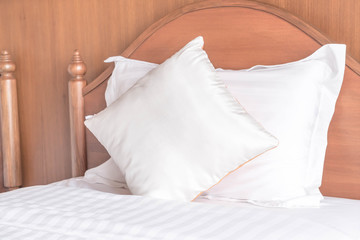 Comfort pillow on bed