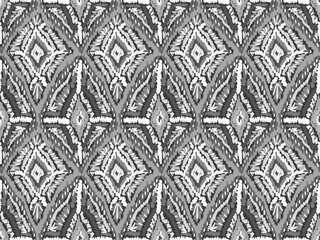 Ethnic ornament pattern abstract fabric grey
