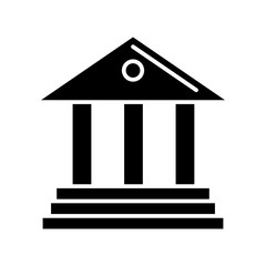 museum - bank icon, illustration, vector sign on isolated background