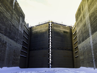 Critical Infrastructure for Global Economic Growth Shipping Canal Closed Lock Gates