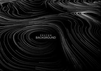 Abstract background with curled linear pattern