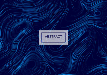 Abstract artistic blue background with swirled gradient lines.