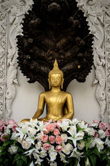 Bangkok Thailand: Buddha of Wat Nak Prok temple (178/, Soi Thoet Thai 46, Khwaeng Pak Khlong Phasi Charoen, Khet Phasi Charoen, Krung Thep Maha Nakhon 10160)