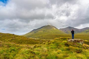 Man lost in the Isle of Skye