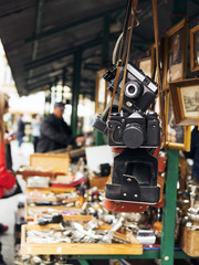 flea market, retro cameras