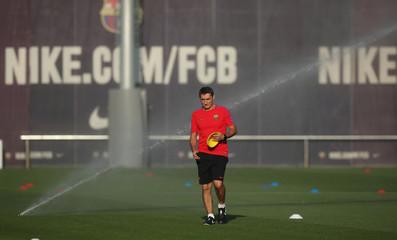 Champions League - Barcelona Training