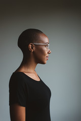 Beautiful African American Woman With Short Hair