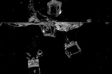 splashing water on black background use as natural background