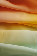 Close up of beautiful colored silk