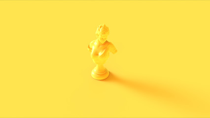 Yellow statue / bust on a yellow background