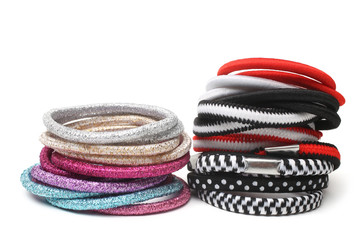Colorful fabric hair bands