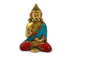 Buddha stock images. Decorative Buddha on white background. Statue of a Buddha