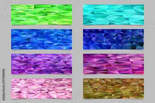 gradient abstract triangle polygon pattern mosaic banner template