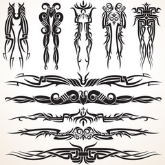Maori Tribal Tattoo Design Elements
