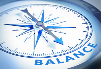 Kompass weiß blau Balance