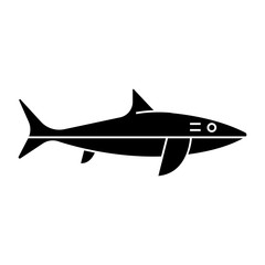 shark icon, illustration, vector sign on isolated background