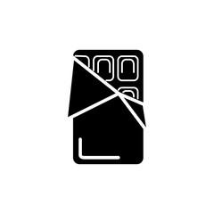 shokolade icon, illustration, vector sign on isolated background